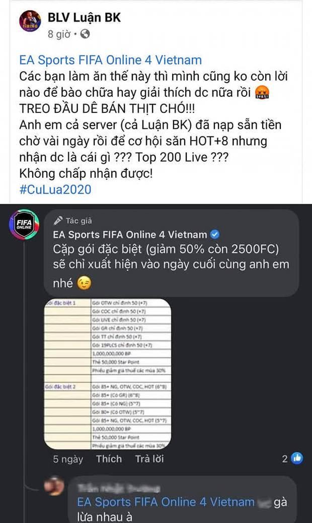 Biến căng FIFA Online 4: Garena bị streamer lẫn game thủ công kích dữ dội, đòi tẩy chay vì treo đầu dê bán thịt chó - Ảnh 3.