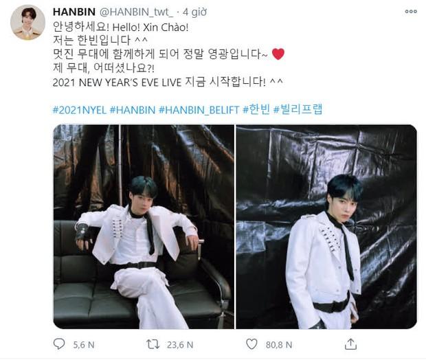 Hanbin có sân khấu ra mắt tại concert nhà Big Hit: Gửi lời chào đến fan Việt, được dân tình khen tiến bộ vượt bậc - Ảnh 4.