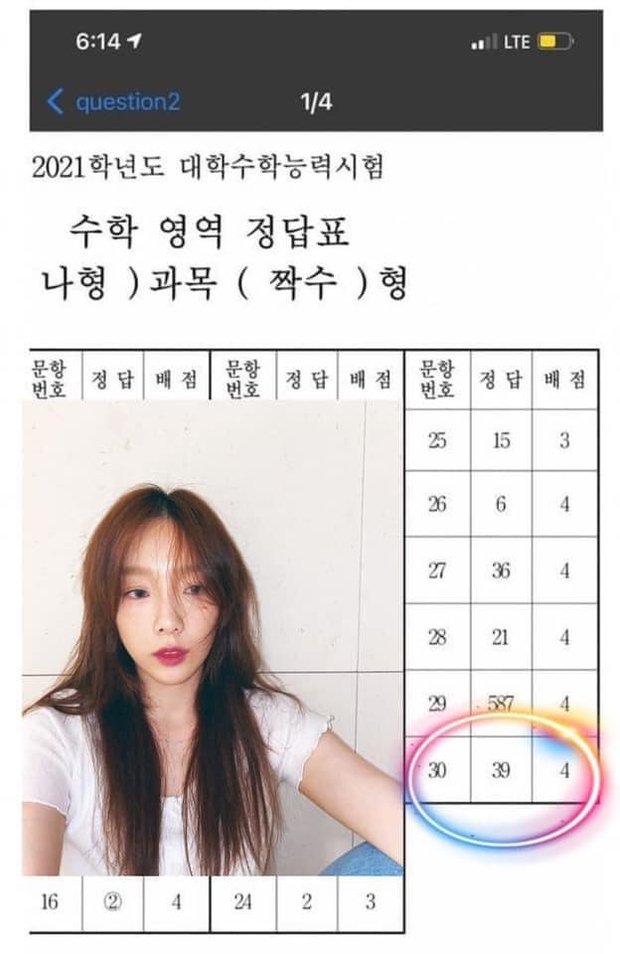Thật như đùa: Loay hoay mãi không giải xong, fan Taeyeon (SNSD) chỉ làm 1 điều là đỗ ngay tốt nghiệp! - Ảnh 2.
