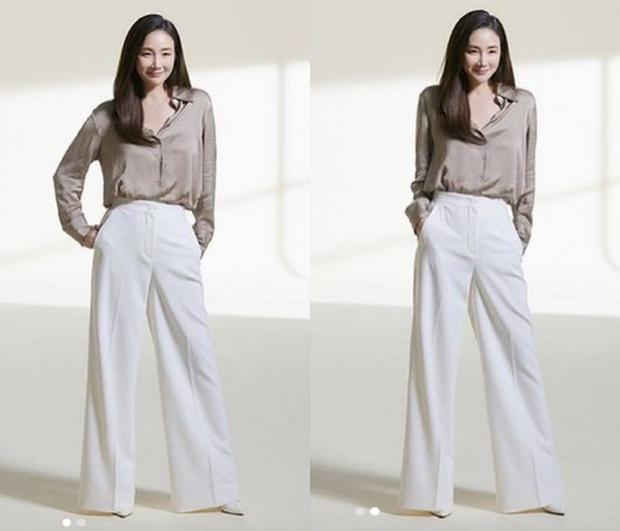 Choi Ji Woo lộ vóc dáng thật sau hơn 6 tháng sinh con qua hình chưa chỉnh sửa, liệu U50 có còn hoàn hảo? - Ảnh 2.