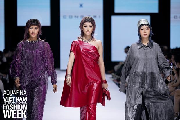 Dàn vedette toàn Hoa hậu khác tới nỗi không ai nhận ra, sốc nhất là visual của tân HH Đỗ Thị Hà trong show diễn mở màn cho AVIFW 2020 - Ảnh 9.