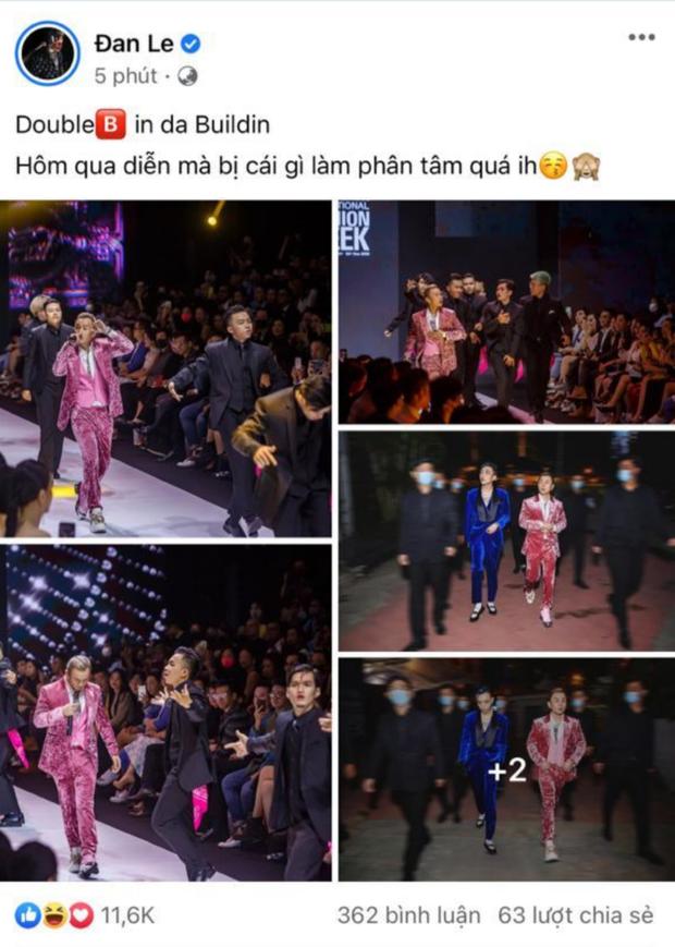 Binz cuối cùng đã chia sẻ về màn phát cẩu lương công khai đầu tiên với Châu Bùi tại Fashion Week: Nghe sao thấy lươn lẹo quá? - Ảnh 2.