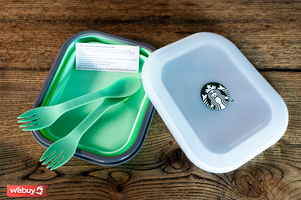 Review hộp cơm Starbucks: Gấp gọn cực tiện nhưng có xứng đáng với giá 400k? - Ảnh 7.