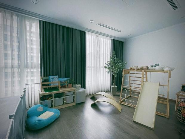 Căn hộ Vinhomes của nhà thiết kế nội thất: Tông màu xanh là lạ nhưng lên hình đẹp từng cm, sống ảo thì cực mê - Ảnh 13.