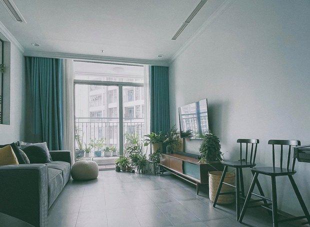 Căn hộ Vinhomes của nhà thiết kế nội thất: Tông màu xanh là lạ nhưng lên hình đẹp từng cm, sống ảo thì cực mê - Ảnh 1.
