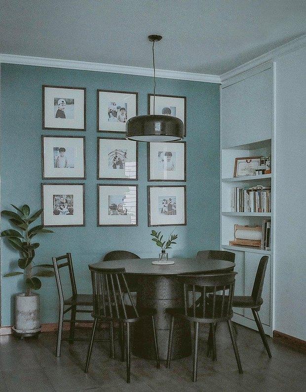 Căn hộ Vinhomes của nhà thiết kế nội thất: Tông màu xanh là lạ nhưng lên hình đẹp từng cm, sống ảo thì cực mê - Ảnh 6.