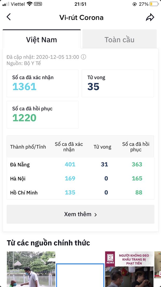 Xôn xao thông tin TikTok cập nhật sai tình hình dịch bệnh tại Việt Nam, số ca mắc bệnh lên đến gần 100.000 ca - Ảnh 3.