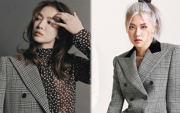 """Hết đụng hàng Lisa, Song Hye Kyo tiếp tục """"chiến"""" với Rosé khi cùng diện blazer hàng hiệu - Ảnh 4."""