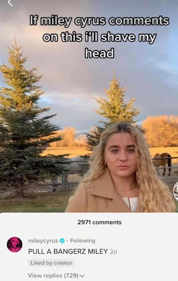 Miley Cyrus đang túc trực ngày đêm trên TikTok, comment vào tất cả video của fan và tạo luôn cơn sốt mới! - Ảnh 7.
