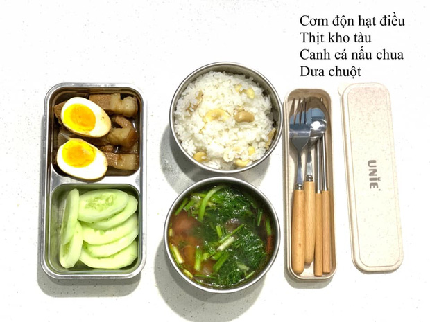 Every morning only takes 30 minutes, the wife releases a pure bento box collection that makes her husband cry with his colleagues - Photo 3.