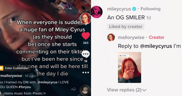 Miley Cyrus đang túc trực ngày đêm trên TikTok, comment vào tất cả video của fan và tạo luôn cơn sốt mới! - Ảnh 11.