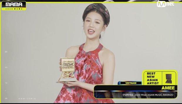 AMEE sánh vai cùng các nghệ sĩ quốc tế, đạt giải Tân binh Châu Á xuất sắc nhất tại MAMA 2020 đầy bất ngờ - Ảnh 3.
