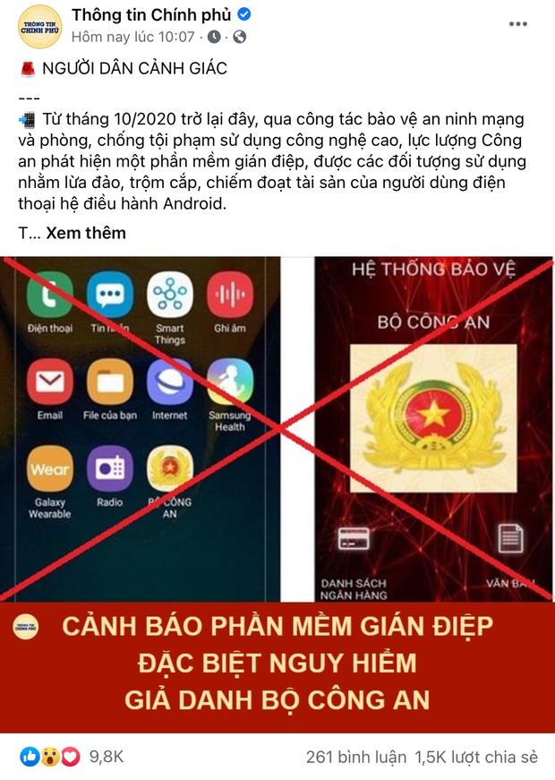Cảnh báo: Phần mềm gián điệp đặc biệt nguy hiểm giả danh Bộ Công An để lừa đảo trên smartphone - Ảnh 1.