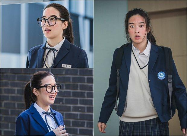 6 lần sao Hàn hóa xấu trên màn ảnh: Moon Ga Young mặt đầy mụn vẫn chưa sốc bằng màn phát phì của IU - Ảnh 21.