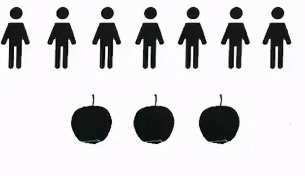 Toán lớp 3: Làm sao chia đều 3 quả táo cho 7 người? - Ảnh 1.