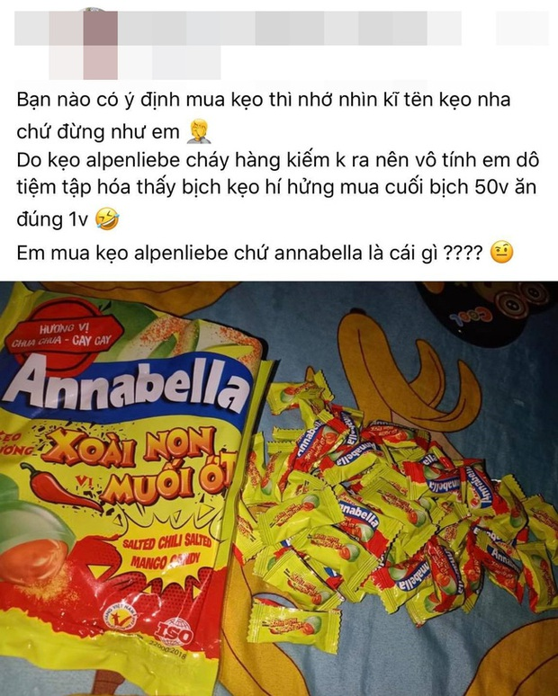 Vào tiệm tạp hóa mua kẹo, cô gái chết đứng khi thấy cái tên đã bị nhái rùng rợn, cả bịch 50 viên mà chỉ ăn có 1 viên rồi bỏ hết đi - Ảnh 1.