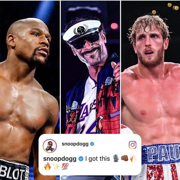 Snoop Dogg tự ứng cử vị trí cầm trịch trận Mayweather vs Logan Paul, fan sôi nổi: Hy vọng ông ấy sẽ bình luận theo phong cách rap - Ảnh 1.
