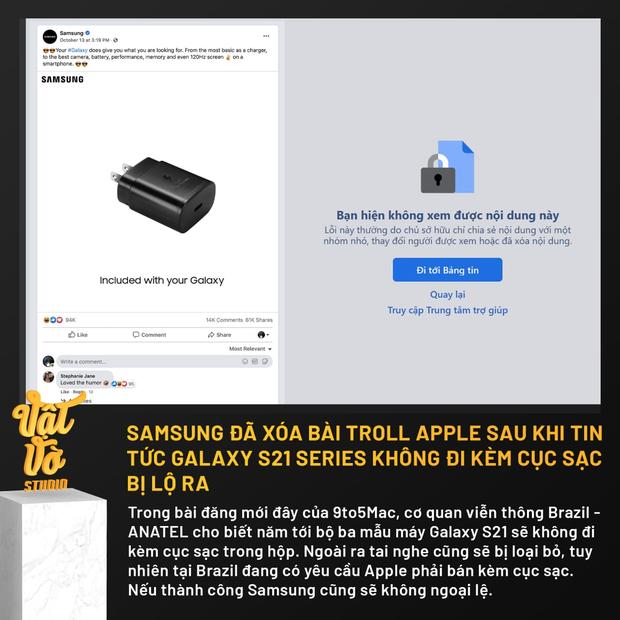 Ai rồi cũng lật mặt: Samsung lặng lẽ xoá bài viết cà khịa iPhone sau khi lộ tin Galaxy S21 không bán kèm củ sạc - Ảnh 2.