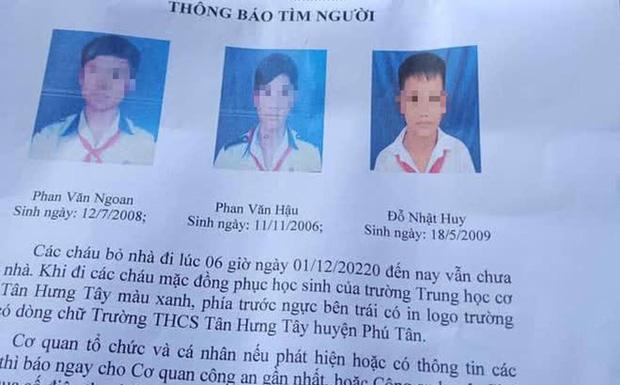 Ba bé trai từ 11-14 tuổi đạp xe hơn 300km lên TP.HCM tìm cha mẹ - Ảnh 1.