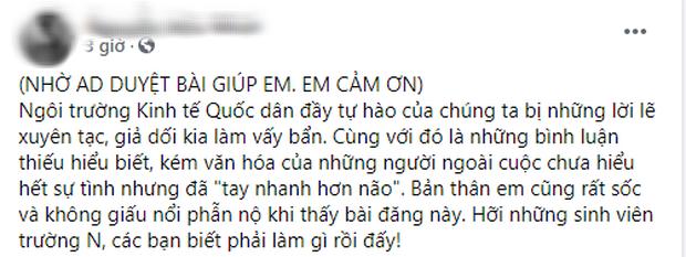 Sinh viên NEU bênh vực Đỗ Hà, kêu gọi report các bài viết phê phán hình ảnh Hoa hậu ngồi còn thầy giáo đứng báo cáo - Ảnh 3.