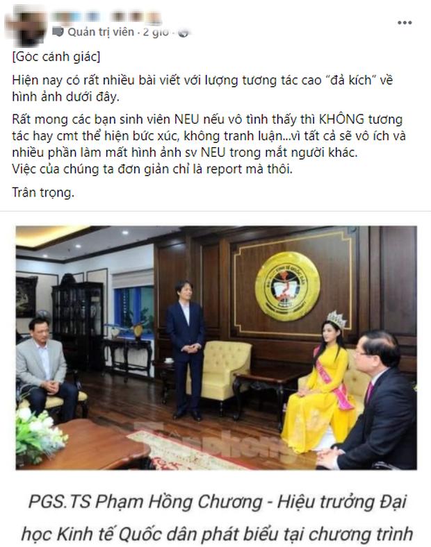 Sinh viên NEU bênh vực Đỗ Hà, kêu gọi report các bài viết phê phán hình ảnh Hoa hậu ngồi còn thầy giáo đứng báo cáo - Ảnh 2.