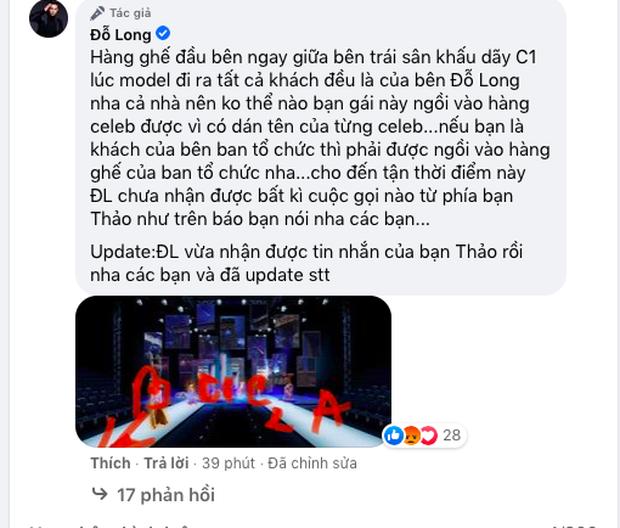 NTK Đỗ Long phản bác khi bị đặt nghi vấn, hé lộ động thái bất ngờ của thí sinh HHHV Việt Nam sau drama ngồi sai chỗ tại VIFW - Ảnh 2.