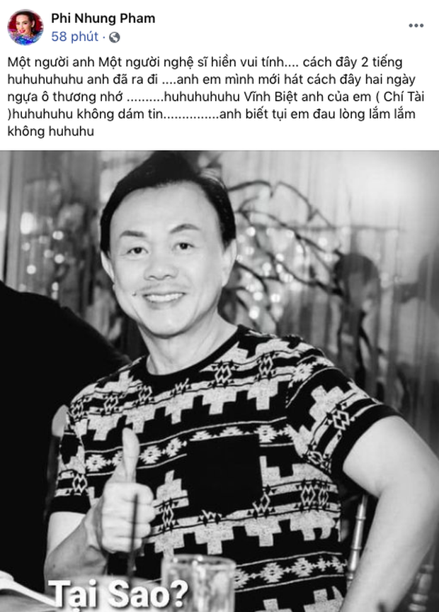 Cả showbiz Việt bàng hoàng khi hay tin NS Chí Tài qua đời: Đông Nhi lặng người, Ngô Kiến Huy, Noo Phước Thịnh đau buồn gửi lời tiễn biệt - Ảnh 2.