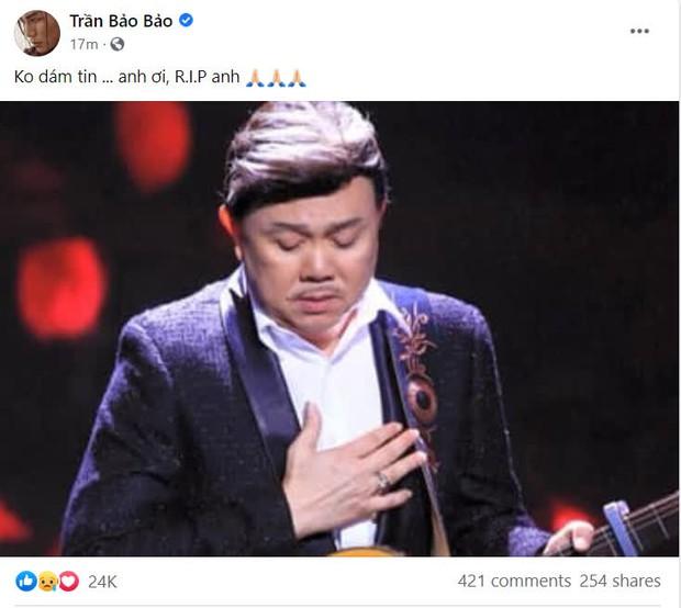 Cả showbiz Việt bàng hoàng khi hay tin NS Chí Tài qua đời: Đông Nhi lặng người, Ngô Kiến Huy, Noo Phước Thịnh đau buồn gửi lời tiễn biệt - Ảnh 3.