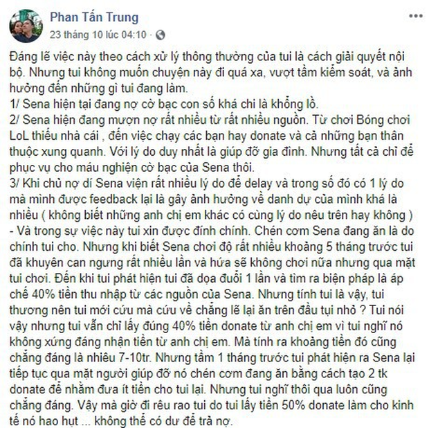 Sena xứng danh ông hoàng thị phi của làng LMHT Việt Nam: Cờ bạc, trốn nợ, hỗn láo với đàn anh - Ảnh 2.