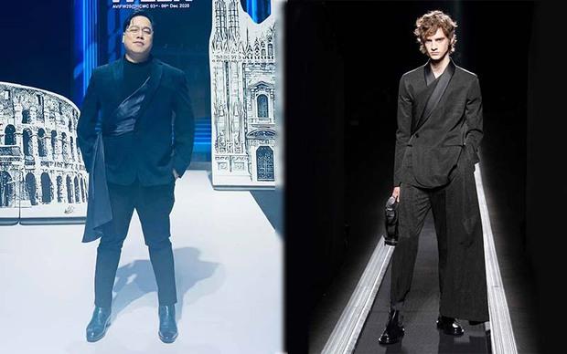 Tùng Leo đụng hàng Karik với mẫu suit Dior xịn sò, nhưng bộ đồ của MC có phải là hàng nhái? - Ảnh 3.
