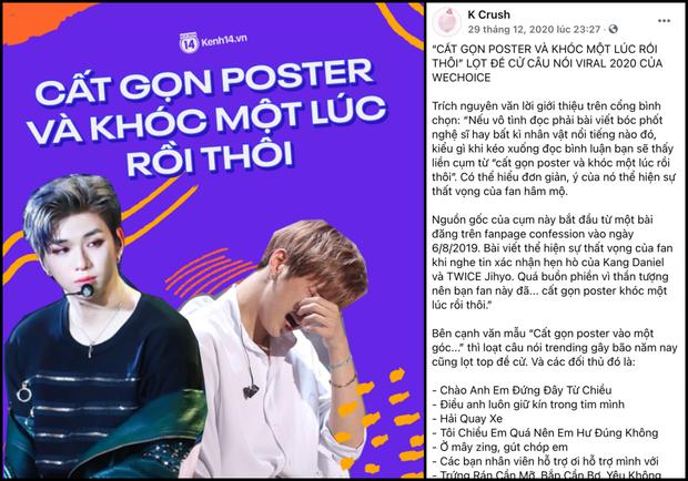 Cất gọn poster và khóc một lúc rồi thôi: Bức tâm thư đẫm nước mắt của fan Kpop được netizen tích cực đề cử ở WeChoice 2020 - Ảnh 1.