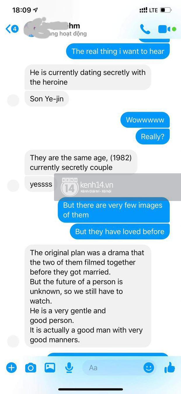 Độc quyền: Rần rần lại ảnh tin nhắn người trong Kbiz tiết lộ với bà xã Đăng Khôi chuyện Hyun Bin - Son Ye Jin hẹn hò - Ảnh 3.