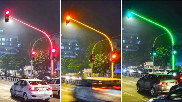 Ấn Độ chơi trội, lắp đặt nguyên hệ thống full LED lên đèn giao thông - Ảnh 2.
