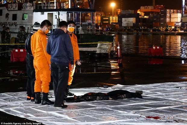 Máy bay rơi tại Indonesia: Đã tìm thấy xác và mảnh thi thể của các hành khách, cứu hộ tiến hành đưa hài cốt nạn nhân về bờ - Ảnh 1.