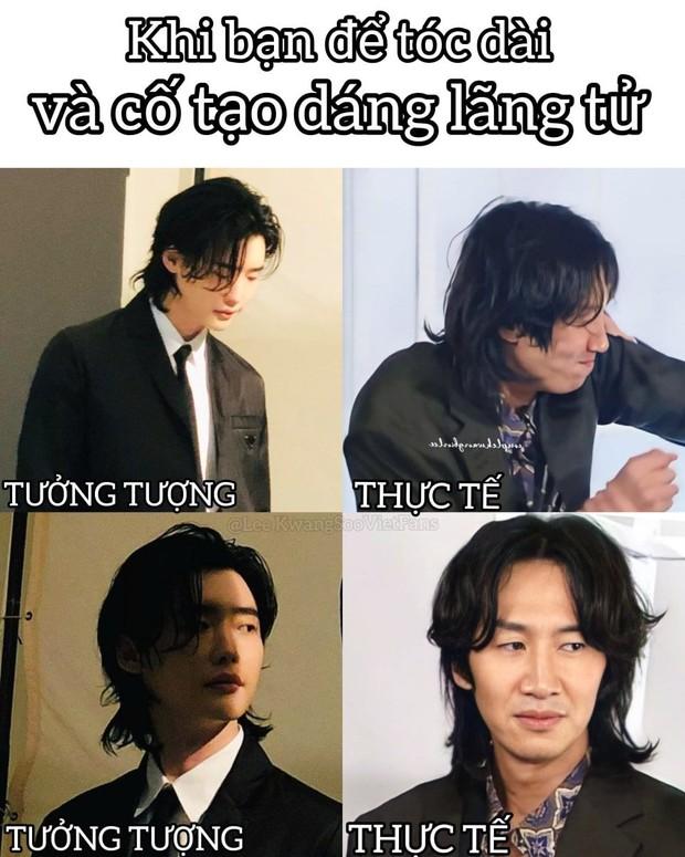 """Cùng để tóc dài, Lee Jong Suk và Yunho được khen lãng tử phong trần, sao đến Lee Kwang Soo lại bị """"vùi dập"""" thế này? - Ảnh 4."""