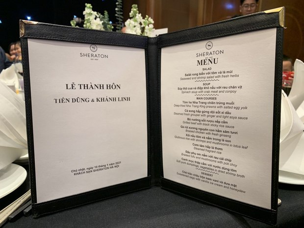 Lộ diện menu cưới của Bùi Tiến Dũng và Khánh Linh: Chơi sang với toàn món thuỷ tinh, ẩn số nằm ở món tráng miệng - Ảnh 2.