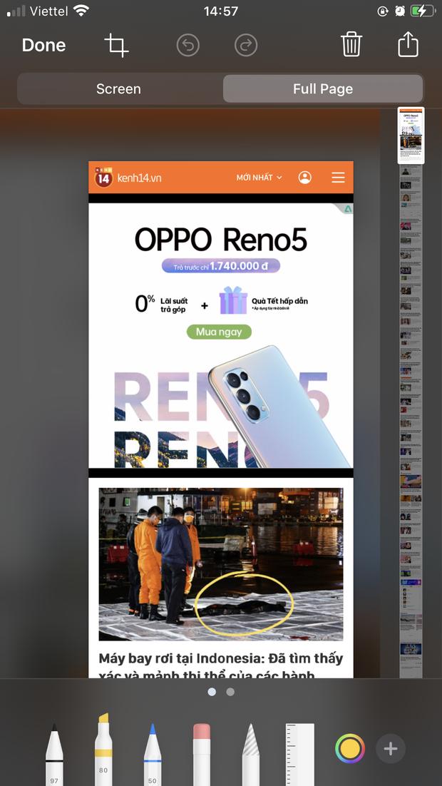 Chụp full màn hình iPhone dễ như chơi chỉ với vài thao tác đơn giản - Ảnh 4.