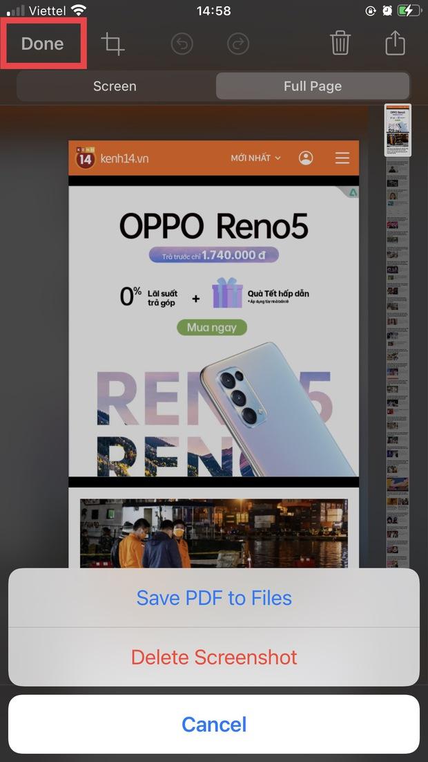 Chụp full màn hình iPhone dễ như chơi chỉ với vài thao tác đơn giản - Ảnh 6.