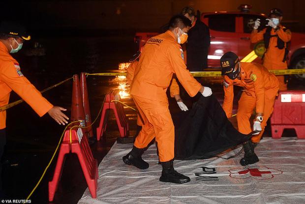 Máy bay rơi tại Indonesia: Đã tìm thấy xác và mảnh thi thể của các hành khách, cứu hộ tiến hành đưa hài cốt nạn nhân về bờ - Ảnh 2.
