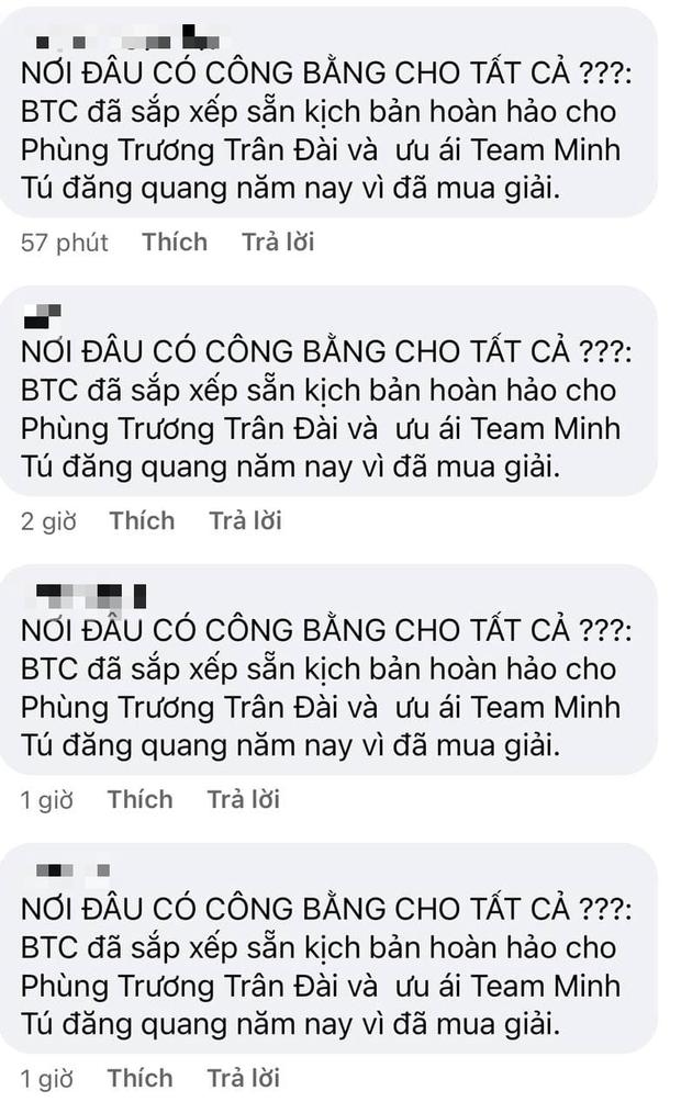 Fanpage Đại Sứ Hoàn Mỹ bị spam loạt bình luận tố học trò Minh Tú mua giải - Ảnh 3.