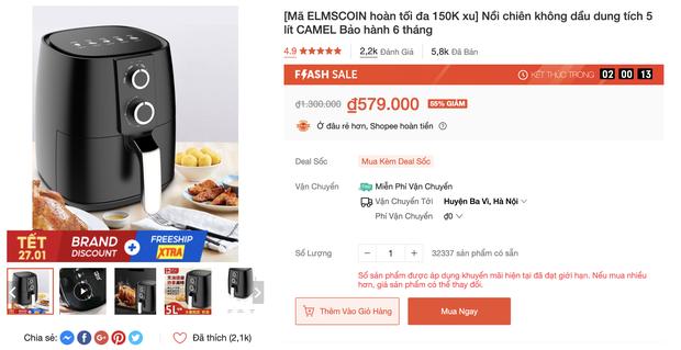 10 nồi chiên không dầu sale mạnh đến 60%: Loại rẻ nhất chỉ 580k sắm cho Tết là đẹp - Ảnh 1.