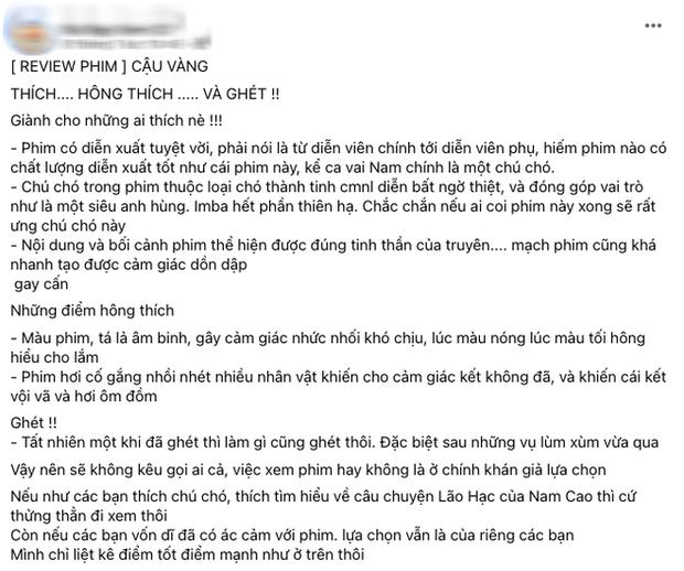 MXH bùng nổ bình luận trái chiều về Cậu Vàng: Khánh Vân, Hà Tăng, Châu Bùi đều khen ngợi nhưng khán giả lại nghĩ khác! - Ảnh 9.