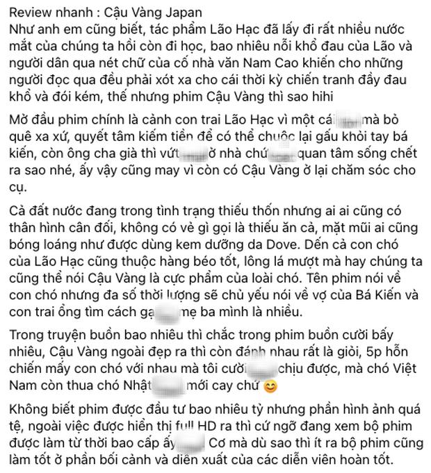 MXH bùng nổ bình luận trái chiều về Cậu Vàng: Khánh Vân, Hà Tăng, Châu Bùi đều khen ngợi nhưng khán giả lại nghĩ khác! - Ảnh 8.