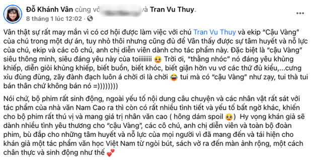 MXH bùng nổ bình luận trái chiều về Cậu Vàng: Khánh Vân, Hà Tăng, Châu Bùi đều khen ngợi nhưng khán giả lại nghĩ khác! - Ảnh 2.