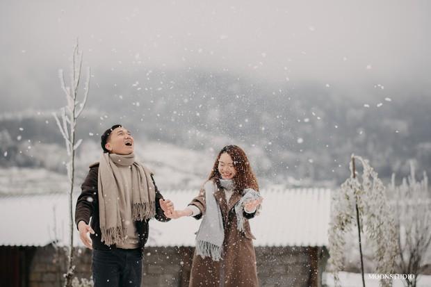 Trọn bộ ảnh cưới lung linh của cặp đôi Hà Nội giữa băng tuyết kỳ ảo ở Y Tý khiến dân tình trầm trồ ngưỡng mộ - Ảnh 6.