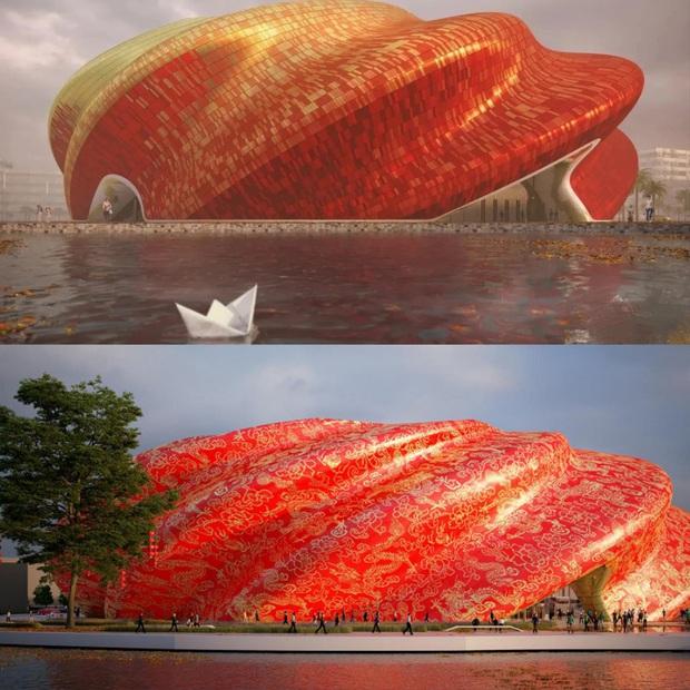 10 công trình kiến trúc Trung Quốc xấu phát hờn: Được đầu tư nghìn tỷ vẫn lọt top thảm họa vì khiến người dân nhức mắt - Ảnh 1.