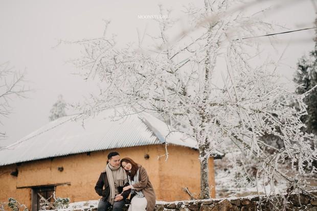 Trọn bộ ảnh cưới lung linh của cặp đôi Hà Nội giữa băng tuyết kỳ ảo ở Y Tý khiến dân tình trầm trồ ngưỡng mộ - Ảnh 8.