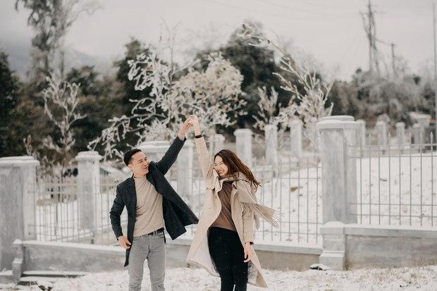 Trọn bộ ảnh cưới lung linh của cặp đôi Hà Nội giữa băng tuyết kỳ ảo ở Y Tý khiến dân tình trầm trồ ngưỡng mộ - Ảnh 7.