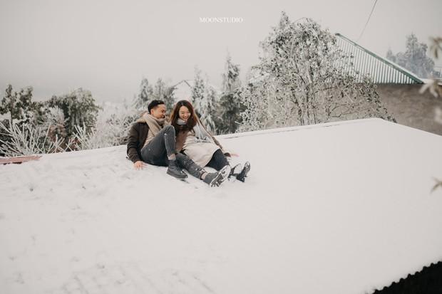 Trọn bộ ảnh cưới lung linh của cặp đôi Hà Nội giữa băng tuyết kỳ ảo ở Y Tý khiến dân tình trầm trồ ngưỡng mộ - Ảnh 4.