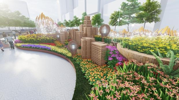 Đường hoa Nguyễn Huệ Tết Tân Sửu 2021 lung linh qua hình ảnh phối cảnh - Ảnh 10.